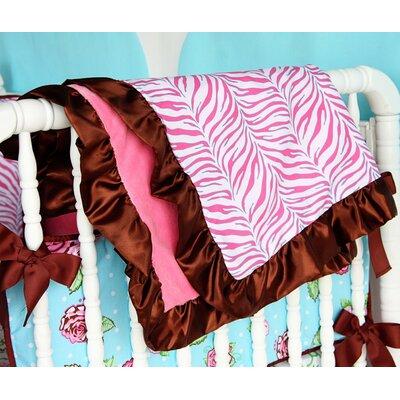 Caden Lane Boutique Zebra Ruffle Blanket