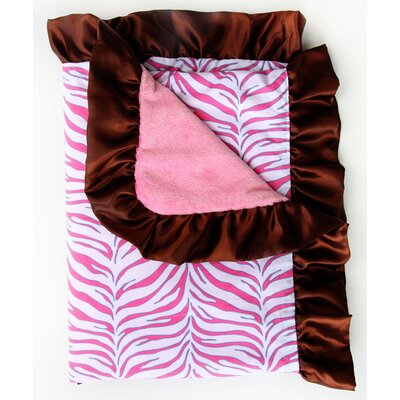 Caden Lane Boutique Zebra Ruffle Blanket