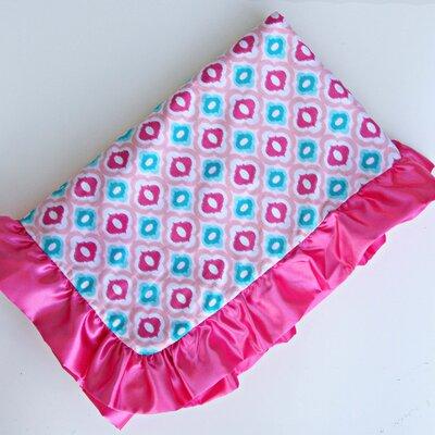 Caden Lane Ikat Mod Pink Ruffle Blanket