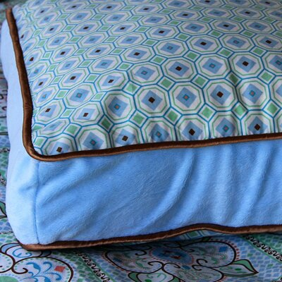 Caden Lane Modern Vintage Blue Square Cotton Pillow
