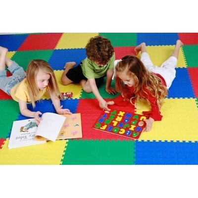 Norsk Floor Recyclamat Solid Color Foam Mats in Multi-color (Pack of 4)