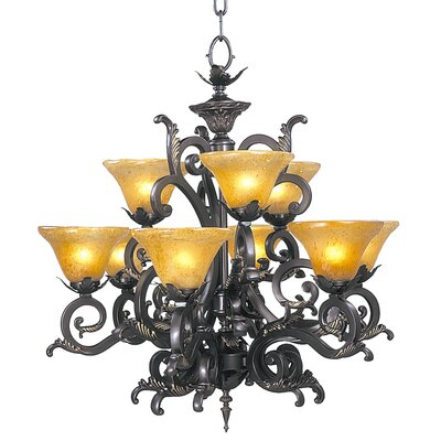 Framburg Palazzo 9 Light Dining Chandelier