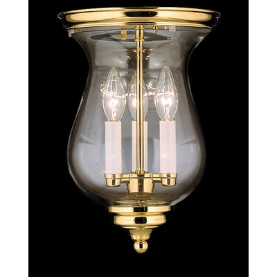 "Framburg Independence Hall 13"" 3 Light Flush Mount"