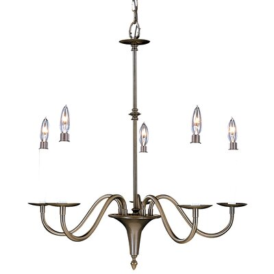 Early American 5 Light Dining Chandelier