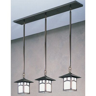 Arroyo Craftsman Evergreen 3 Light Kitchen Island Pendant