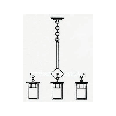 <strong>Arroyo Craftsman</strong> Huntington 4 Light Chandelier