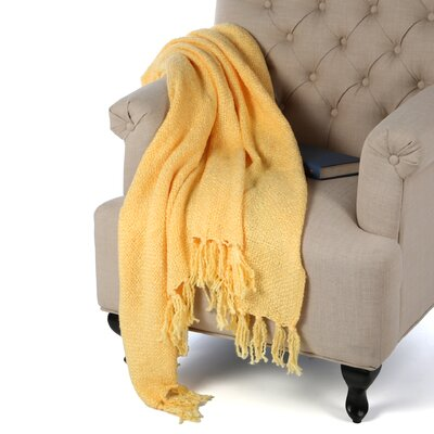 Woven Workz Marion Woven Acrylic Throw in Yellow