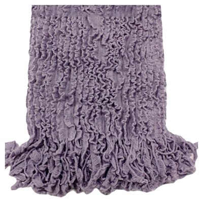 <strong>Woven Workz</strong> Charlotte Ruffled Acrylic Throw