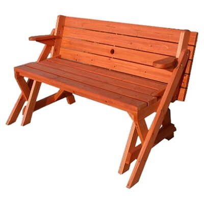 Atlantic Outdoor Convertible Wood Picnic Table Garden Bench Reviews Wayfair