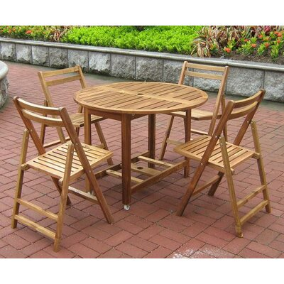 Atlantic Outdoor Folding Dining Side Chairs (Set of 4)