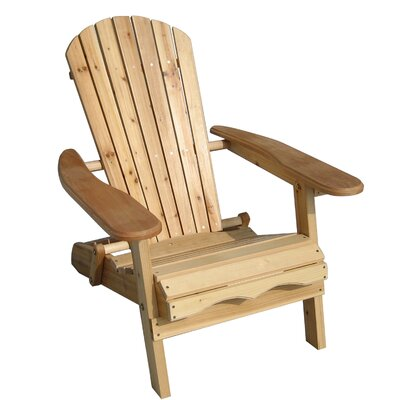 Atlantic Outdoor Stained Simple Adirondack Chair