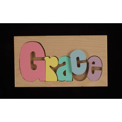 Hollow Woodworks Personalized Names Puzzle With 8 Letters