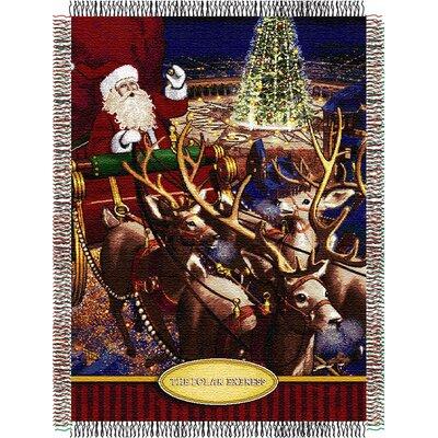 Entertainment Tapestry Holiday Throw Blanket - Polar Express - Santa Flight