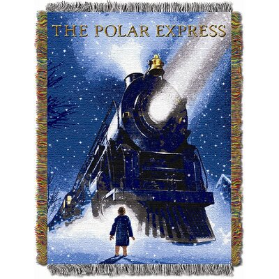 Northwest Co. Entertainment Holiday Polar Express Engine Wonder Tapestry Throw