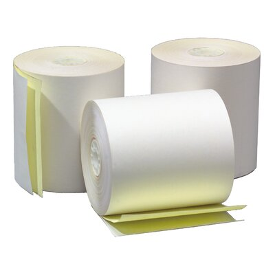 "TST Impreso 4.5"" x 95' 2-Ply Adding Machine and Calculator Roll (25 Rolls)"