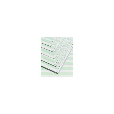 "TST Impreso 14.88"" x 8.5"" Computer Paper with 0.5"" Green Bar (3500 Sheets)"