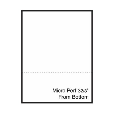 "TST Impreso 8.5"" x 11"" Blank Pre-Perfed and Punched Copy Paper with Perf 3.67"" from Bottom (2500 Sheets)"