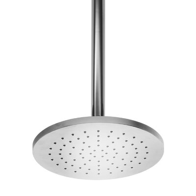 WS Bath Collections Supioni Round Ceiling Mount Self-Cleaning Rain Shower Head