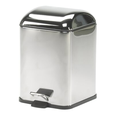 WS Bath Collections Complements Karta Waste Basket with Foot Pedal