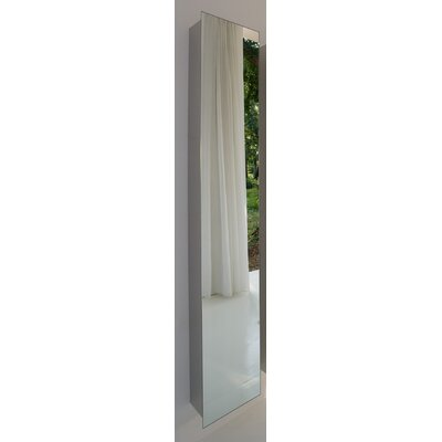"WS Bath Collections Linea 11"" x 64.1"" Mirrored Wall Mount Linen Tower"