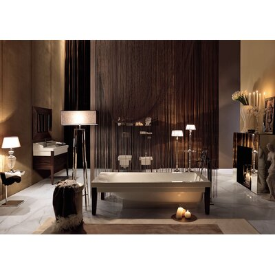 "WS Bath Collections Bentley 70.1"" x 20.5"" Crystal-tech Bathtub"
