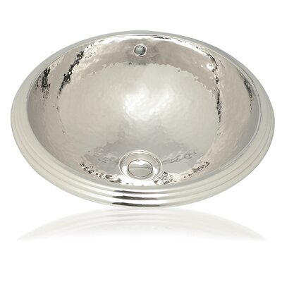 WS Bath Collections Metal 16.1&quot; Round Bathroom Sink