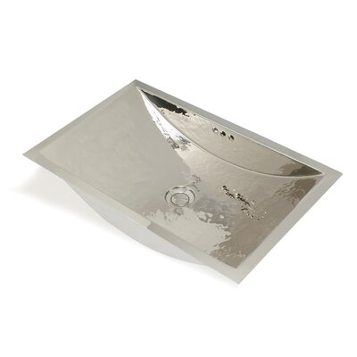 WS Bath Collections Metal Rectangle Bathroom Sink