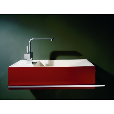 "WS Bath Collections Reverse 19.7"" x 9.8"" Wall Mount Bathroom Sink"