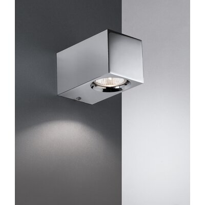 "WS Bath Collections Metric 4.3"" x 3.1"" Wall Light in Polished Chrome"