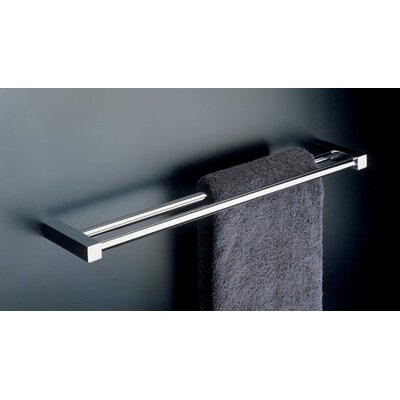 "WS Bath Collections Metric 19.7"" Double Towel Bar in Polished Chrome"