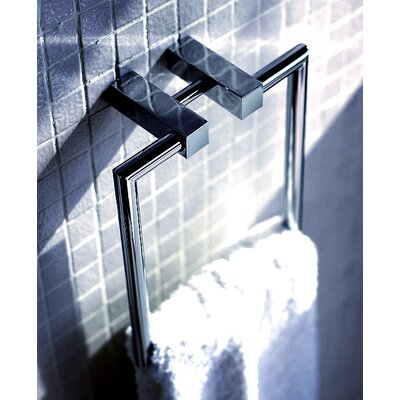 "WS Bath Collections Metric 8.2"" x 7"" Towel Ring in Polished Chrome"