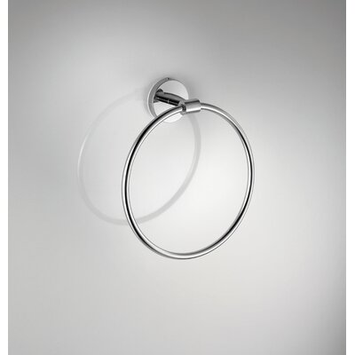 "WS Bath Collections Duemilla 7.1"" Towel Ring in Polished Chrome"