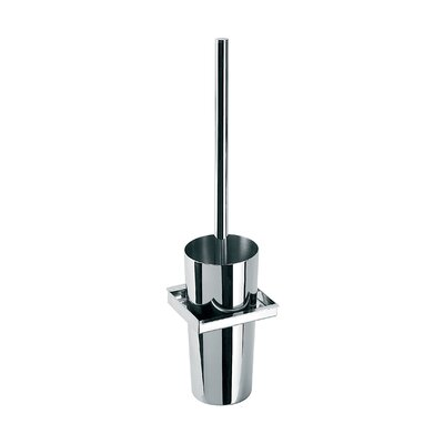 """WS Bath Collections Skuara 16.1"""" Toilet Brush Holder in Stainless Steel"""