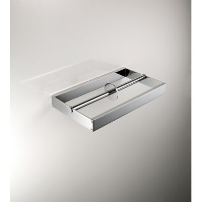 "WS Bath Collections Skuara 9.1""  Double Toilet Paper Holder in Polished Chrome"