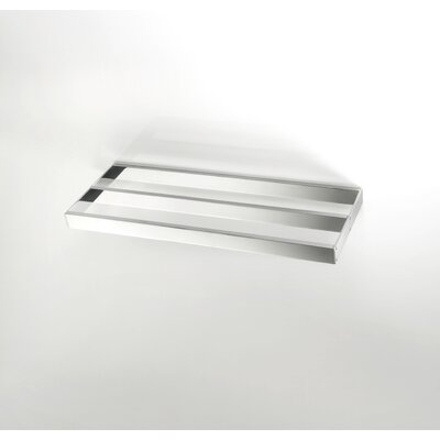 "WS Bath Collections Skuara 19.7""  Double Towel Bar in Polished Chrome"