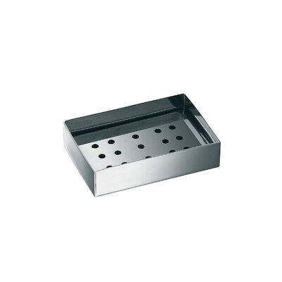 "WS Bath Collections Complements 4.7"" x 4.7"" Saon Soap Dish in Stainless Steel"