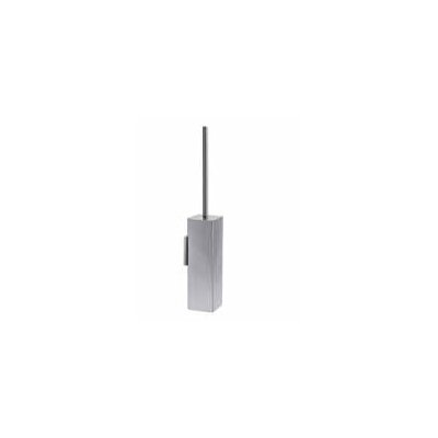 "WS Bath Collections Complements 3.4"" x 3.4"" Skoati Wall MountToilet Brush Holder in Stainless Steel"