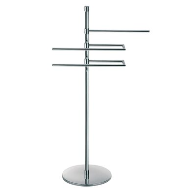 "WS Bath Collections Complements 35.6"" x 10.8"" Rampin Towel Stand in Polished Chrome"
