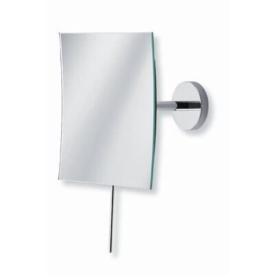 "WS Bath Collections Mirror Pure 6.1"" Mevedo Wall Mount Make Up Magnifying Mirror in Polished Chrome"