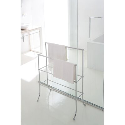 WS Bath Collections Vanessia Towel Stand in Polished Chrome