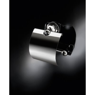 WS Bath Collections Vanessia Toilet Paper Holder with Cover in Polished Chrome
