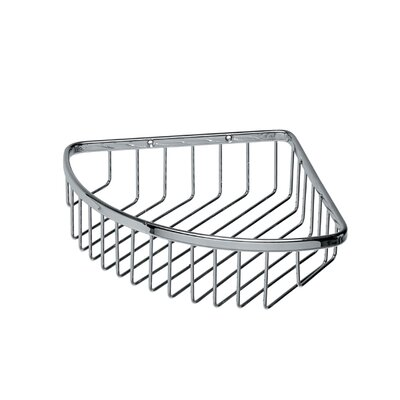 "WS Bath Collections Filo 9.8"" x 7.9"" Shower Basket in Polished Chrome"