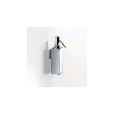 "WS Bath Collections Metric 8.7"" x 4.7"" Wall Soap Dispenser in Polished Chrome"