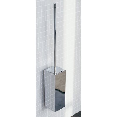 "WS Bath Collections Metric 23.2"" x 3.5"" Wall Toilet Brush Holder in Polished Chrome"