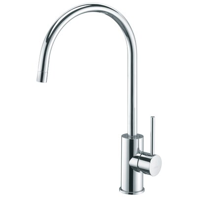 "WS Bath Collections Light 14.3"" One Handle Single Hole Kitchen Faucet with High Swivel Spout"