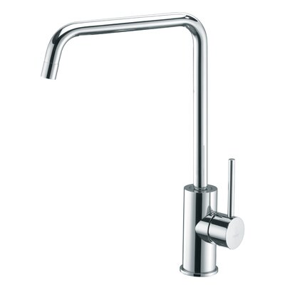 "WS Bath Collections Light 12.8"" One Handle Single Hole Kitchen Faucet with High Swivel Spout"