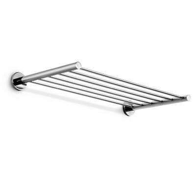 WS Bath Collections Napie Chrome Towel Bar Shelf