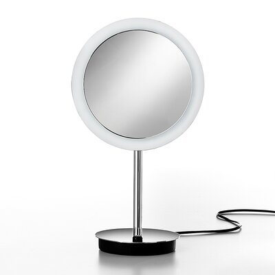 WS Bath Collections Mevedo Freestanding Magnifying Makeup Mirror with Lighting