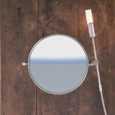 "WS Bath Collections WS1 Wall-mount Magnifying (3X) Makeup Mirror, 15.9"" Extension"