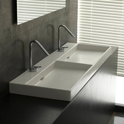 WS Bath Collections Ceramica I Urban Ceramic Double Bathroom Sink